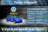 2 in 1: V-Rally 3 + Stuntman Game Boy Advance Selecting a racing team.