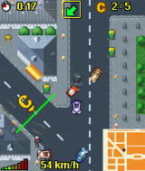 Midtown Madness 3 Mobile J2ME MotorolaV3 Ingame (Checkpoint mode, reach each checkpoint before other vehicules)