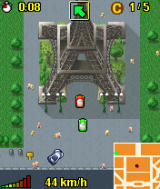Midtown Madness 3 Mobile J2ME MotorolaV3 Ingame (And the Eiffel tower)