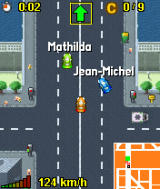 Midtown Madness 3 Mobile J2ME MotorolaV3 Ingame (Other opponents are signalised by their name)