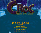 Croc: Legend of the Gobbos Windows Main menu.