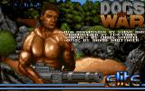 Dogs of War Amiga Title screen