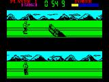 Raw Recruit ZX Spectrum Assault Course - some wooden stocks ahead