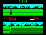 Raw Recruit ZX Spectrum Assault Course - jump on a long obstacle