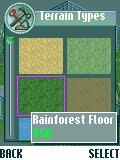 Zoo Tycoon 2 Mobile BREW If you want to change the exhibit ground aspect, use this menu to add things like water, grass... (BREW version)