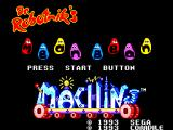 Dr. Robotnik's Mean Bean Machine SEGA Master System Title screen
