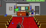 Ghostbusters II DOS ghosts in the courtroom - EGA