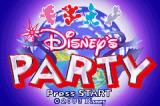 Disney's Party Game Boy Advance Title screen.