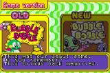 Bubble Bobble Old & New Game Boy Advance Choosing a title version (original or revised).