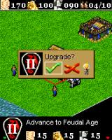 Age of Empires II Mobile J2ME Ingame interface and select/upgrade operation  (Sony Ericsson K700 version)
