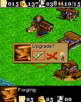 Age of Empires II Mobile J2ME Upgrades can be obtained from the blacksmith to upgrade your army (Sony Ericsson K700 version)