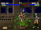 Mortal Kombat Trilogy Windows Sheeva has green blood...