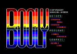 Booly Amstrad CPC Title and credits screen