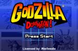 Godzilla: Domination! Game Boy Advance Title screen.