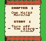 Wario Land II Game Boy Color Chapter start