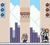 Wario Land II Game Boy Color Boss fight - You got to beat this bunny by making three shots in the basket...