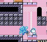 Wario Land II Game Boy Color If Wario is hit by Freezy's ice, he will be frozen and sent sliding backwards until he hit a wall and defrost