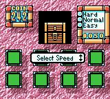 Wario Land II Game Boy Color Treasure Mini Game - Throughout each story you can find a mini-game. You can choose how much time you'd get to find the matching tile before it is turned over again