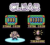 Wario Land II Game Boy Color You will get a breakdown of how much coins you've collected and if you found any treasures