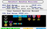 Gunship Amiga Awarded medals