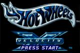 Hot Wheels: Velocity X Game Boy Advance Title screen.