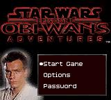 Star Wars: Episode I - Obi-Wan's Adventures Game Boy Color Main menu.