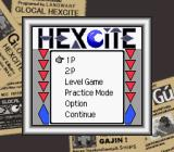 Hexcite: The Shapes of Victory Game Boy Color Main Menu
