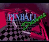 Pinball Dreams SNES Title screen.