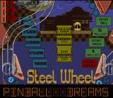 Pinball Dreams SNES Steel Wheel board overview.