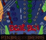 Pinball Dreams SNES Beat Box board overview.