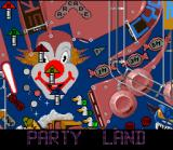 Pinball Fantasies SNES Party Land board overview.