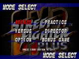 Street Fighter EX 2 Plus PlayStation Main menu.