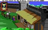 Hero's Quest: So You Want To Be A Hero DOS Cleaning the castle stables for 5 silvers