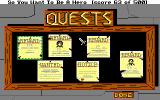 Hero's Quest: So You Want To Be A Hero DOS Looking for work on the bulletin board at the Adventurer's Guild