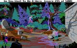 Hero's Quest: So You Want To Be A Hero DOS At night, creepy ghosts roam the town's graveyard