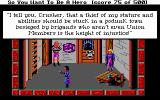 Hero's Quest: So You Want To Be A Hero DOS The chief thief is ranting inside the Thieves' Guild