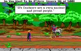 Hero's Quest: So You Want To Be A Hero DOS Having a conversation with Heinrich the centaur