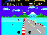 World Grand Prix SEGA Master System Your car is blown to smithereens.