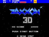 Zaxxon 3-D SEGA Master System Title screen
