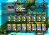 Tiny Toon Adventures: The Great Beanstalk PlayStation Options menu - let's you control the sound, return to main menu, copy down the current password, or enter a password.