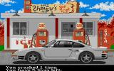 The Duel: Test Drive II Atari ST Gas station.