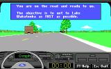 Ford Simulator III DOS Get to the Lake Wakatonka as fast as possible.