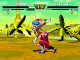 Street Fighter EX Plus α PlayStation Chun-Li attacks Bison using an accurate Crossup: could be this the ultimate move of this battle?