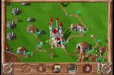 Serf City: Life is Feudal DOS Construction of the first buildings is completed.