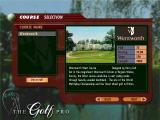 The Golf Pro 2 Windows Selecting a course