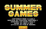 Mega Sports Amiga Title screen (Summer Games)