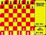 Master Chess ZX Spectrum The computer chooses the Scicilian Defence