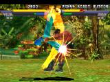 Street Fighter EX 2 Plus PlayStation Darun Mister is stunned by Pullum Purna's anti-air move Prim Kick (now slightly redesigned).