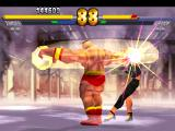Street Fighter EX 2 Plus PlayStation Now, it's Sharon that feels all the high impact provoked by Zangief's spinning move Double Lariat!