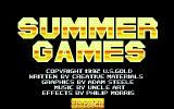 Mega Sports Atari ST Title screen (Summer Games)